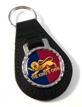 King's Own Royal Regiment Leather Key Fob