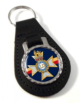 Light Dragoons Leather Key Fob