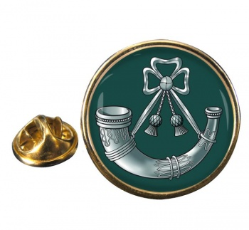 Light Infantry Round Pin Badge