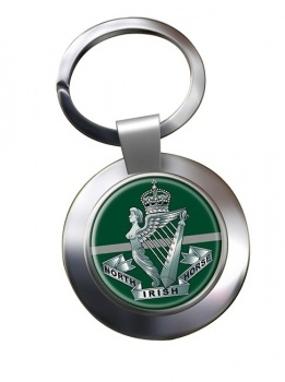 North Irish Horse Chrome Key Ring