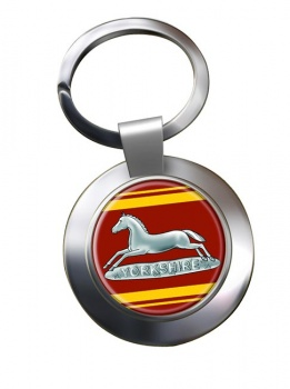 Prince of Wales's Own Regiment of Yorkshire Chrome Key Ring