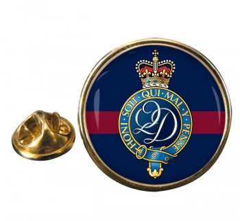 Queen's Division Round Pin Badge
