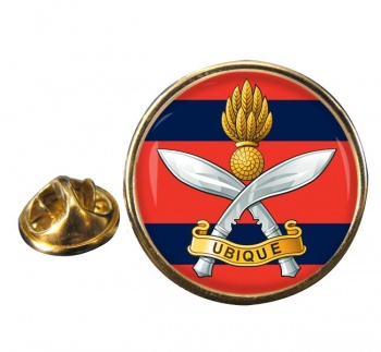 Queens Gurkha Engineers Round Pin Badge
