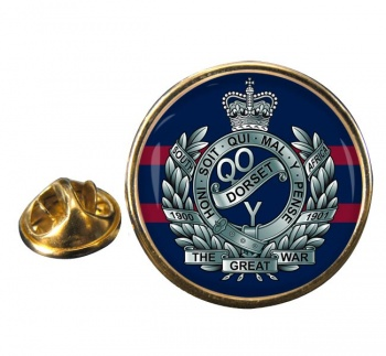Queen's Own Dorset Yeomanry Round Pin Badge
