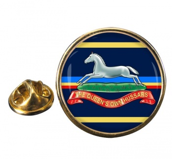 Queen's Own Hussars Round Pin Badge