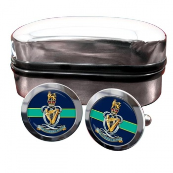 Queen's Royal Hussars Round Cufflinks