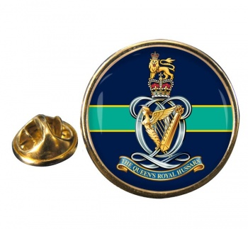 Queen's Royal Hussars Round Pin Badge
