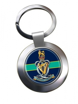 Queen's Royal Hussars Chrome Key Ring