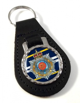 Royal Army Service Corps Leather Key Fob