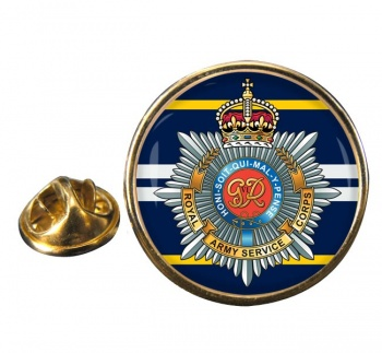 Royal Army Service Corps Round Pin Badge