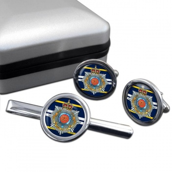 Royal Army Service Corps Round Cufflink and Tie Clip Set