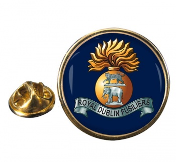Royal Dublin Fusiliers Round Pin Badge