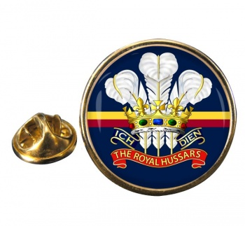 Royal Hussars (Prince of Wales's Own) Round Pin Badge