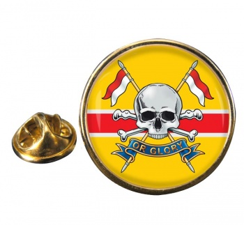 Royal Lancers Round Pin Badge