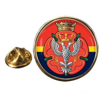 Royal Mercian and Lancastrian Yeomanry Round Pin Badge