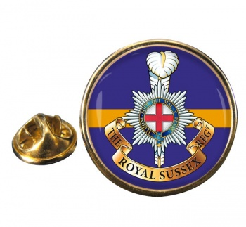 Royal Sussex Regiment Round Pin Badge