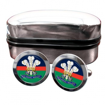 Royal Welsh Round Cufflinks