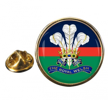 Royal Welsh Round Pin Badge