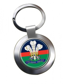 Royal Welsh Chrome Key Ring