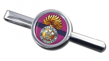 Royal Welsh Fusiliers Round Tie Clip