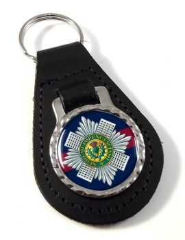 Scots Guards Leather Key Fob