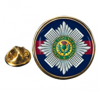 Scots Guards Round Pin Badge