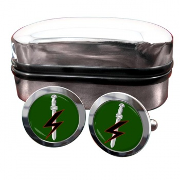 Special Forces Support Group Round Cufflinks