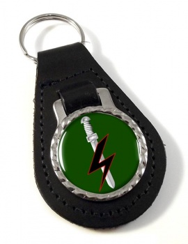 Special Forces Support Group Leather Key Fob