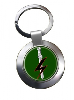 Special Forces Support Group Chrome Key Ring