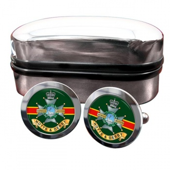 Sherwood Foresters Round Cufflinks