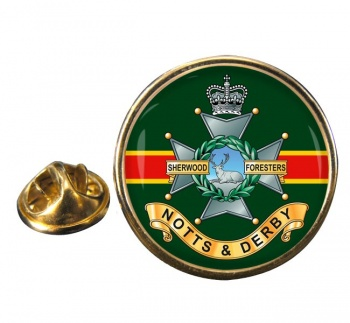 Sherwood Foresters Round Pin Badge
