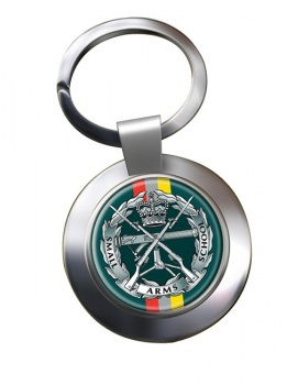 Small Arms School Corps Chrome Key Ring