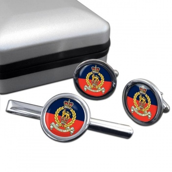 Staff and Personnel Support Branch Round Cufflink and Tie Clip Set