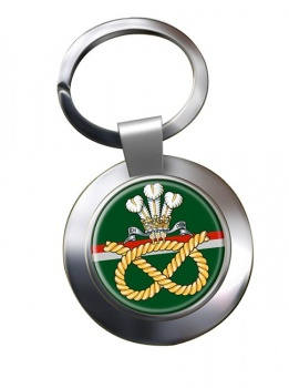 Staffordshire Regiment Chrome Key Ring