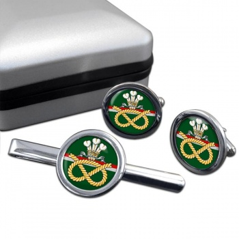 Staffordshire Regiment Round Cufflink and Tie Clip Set