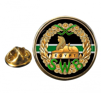 South Wales Borderers Round Pin Badge