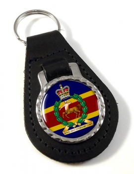 Royal Army Veterinary Corps Leather Key Fob