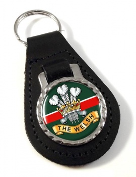 Welsh Regiment Leather Key Fob