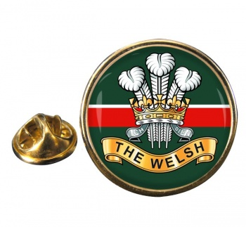 Welsh Regiment Round Pin Badge