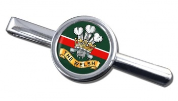 Welsh Regiment Round Tie Clip