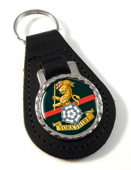 Yorkshire Regiment Leather Key Fob