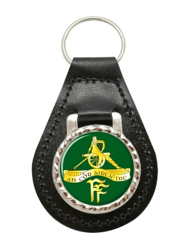 Artillery Corps (Ireland) Leather Key Fob