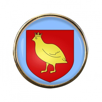 Aunis (France) Round Pin Badge