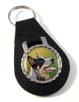 Australian Cattle Dog Leather Key Fob
