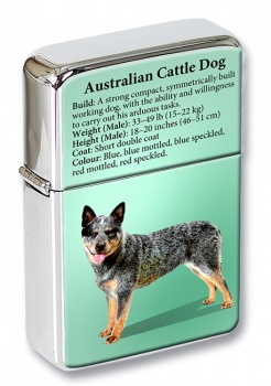 Australian Cattle Dog Flip Top Lighter