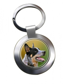 Australian Cattle Dog Metal Key Ring