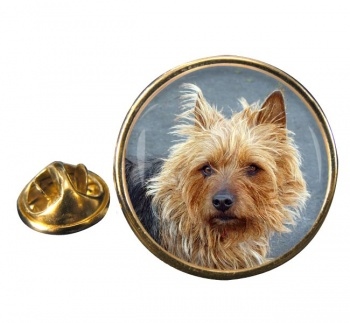 Australian Terrier Round Pin Badge