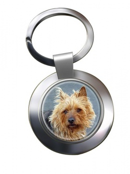 Australian Terrier Metal Key Ring