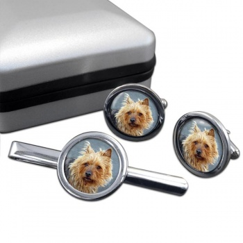 Australian Terrier  Cufflink and Tie Clip Set