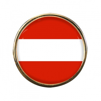 Flagge Osterreichs (Austria) Round Pin Badge